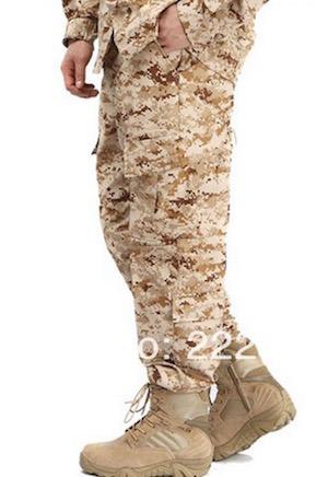 Field herping pants - USMC Desert Cammies.