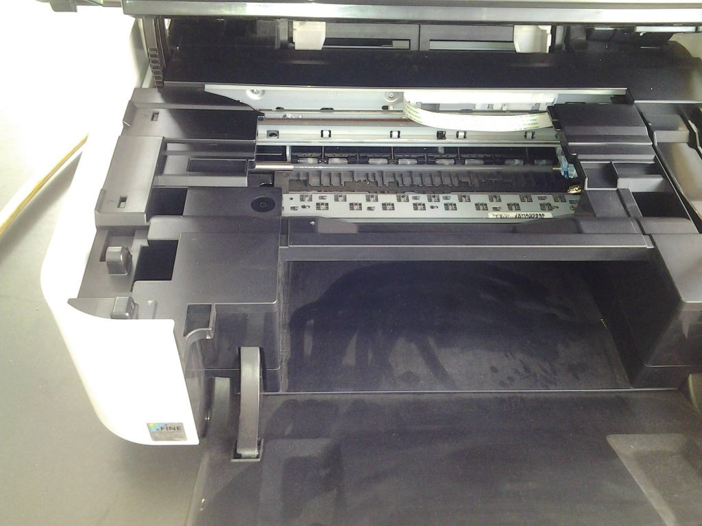 Can you find the snake hiding in the printer?