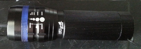 UltraFire rainforest flashlight good for damp conditions in Thailand.