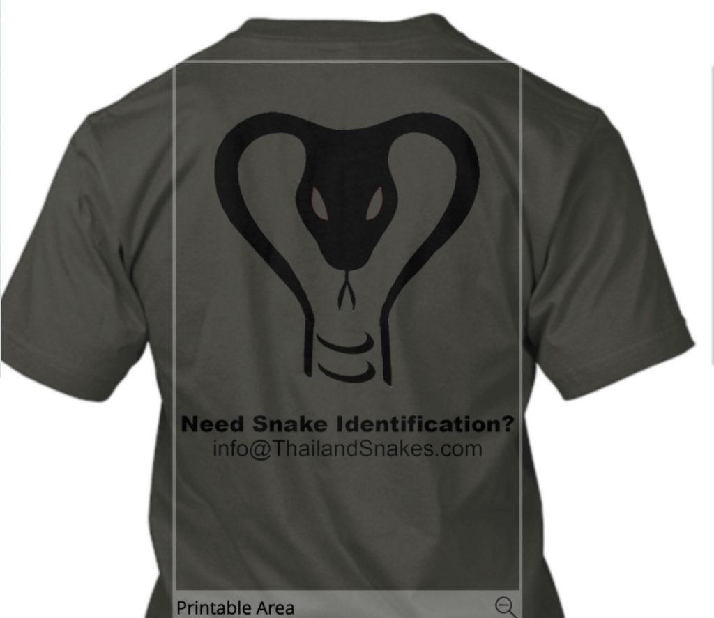 Grey Thailand Snakes T-shirt Back