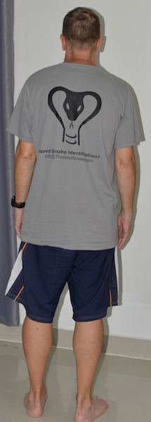 """Vern wearing a XXL grey shirt. This will fit most guys. I am 5'11"""" and 180 lbs (80 kg) There is a lot of room in the shirt. Even if you are 220 lbs, the shirt should still fit well."""