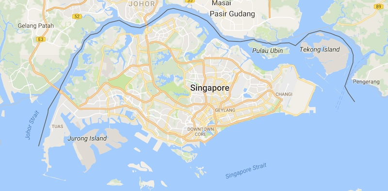 SIngapore Island is home to many snakes, this is a map.