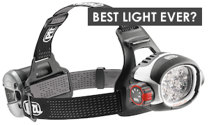 Petzl ULTRA RUSH headlamp. The ultimate herper's headlamp. The ultimate headlamp for campers, fishermen, mountain bikers, and trail runners.
