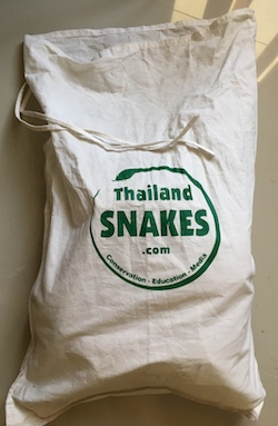 Strong and large snake bags for sale.