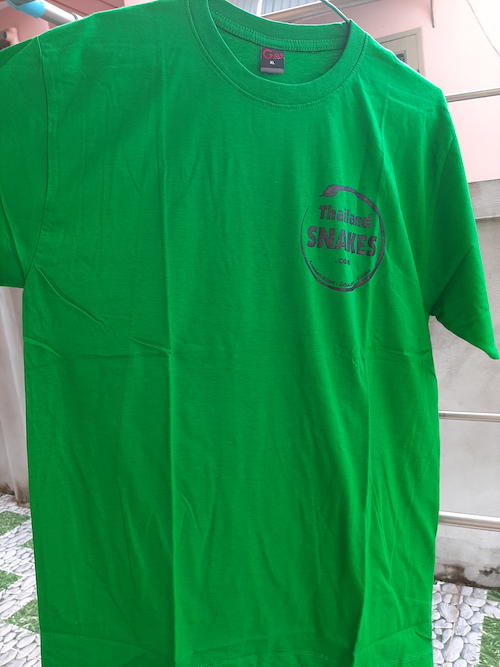 Green Thailand Snakes t-shirt for sale.