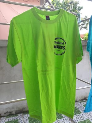 Lime green Thailand Snakes t-shirt for sale.